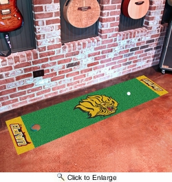 "Fan Mats 18717  University of Arkansas at Pine Bluff Golden Lions 18"" x 72"" Putting Green Mat"