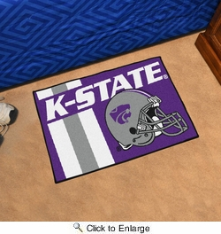 "Fan Mats 18747  Kansas State University Wildcats 19"" x 30"" Uniform Inspired Starter Mat"