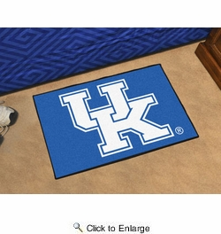 "Fan Mats 18752  University of Kentucky Wildcats 19"" x 30"" Uniform Inspired Starter Mat"