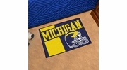 "Fan Mats 18759  University of Michigan Wolverines 19"" x 30"" Uniform Inspired Starter Mat"