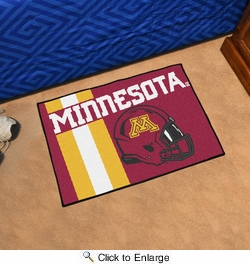 "Fan Mats 18760  University of Minnesota Golden Gophers 19"" x 30"" Uniform Inspired Starter Mat"