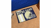 "Fan Mats 18767  University of Notre Dame Fighting Irish 19"" x 30"" Uniform Inspired Starter Mat"