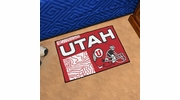 "Fan Mats 18785  University of Utah Utes 19"" x 30"" Uniform Inspired Starter Mat"
