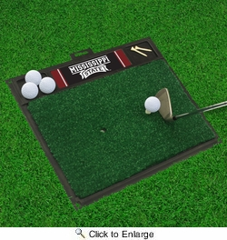 "Fan Mats 18795  Mississippi State University Bulldogs 20"" x 17"" Golf Hitting Mat"