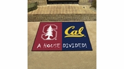 "Fan Mats 18815  Stanford Cardinal vs California Berkley Golden Bears 33.75"" x 42.5"" House Divided Mat"