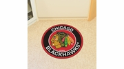 "Fan Mats 18867  NHL - Chicago Blackhawks 27"" diameter Roundel Mat"