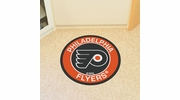 "Fan Mats 18882  NHL - Philadelphia Flyers 27"" diameter Roundel Mat"