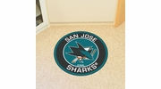 "Fan Mats 18885  NHL - San Jose Sharks 27"" diameter Roundel Mat"