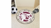 """Fan Mats 1895  Chico State Wildcats 27"""" Diameter Soccer Ball Shaped Area Rug"""