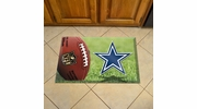 "Fan Mats 18952  NFL - Dallas Cowboys 19"" x 30"" Scraper Mat - Ball Design"