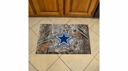 "Fan Mats 18953  NFL - Dallas Cowboys 19"" x 30"" Scraper Mat - Camo Design"