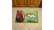 "Fan Mats 18954  NFL - Denver Broncos 19"" x 30"" Scraper Mat - Ball Design"