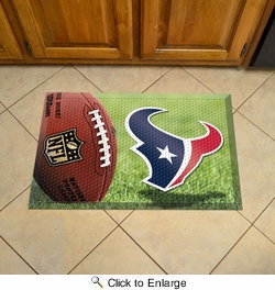 "Fan Mats 18960  NFL - Houston Texans 19"" x 30"" Scraper Mat - Ball Design"
