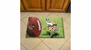 "Fan Mats 18970  NFL - Minnesota Vikings 19"" x 30"" Scraper Mat - Ball Design"