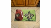 "Fan Mats 18974  NFL - New Orleans Saints 19"" x 30"" Scraper Mat - Ball Design"