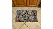 "Fan Mats 18975  NFL - New Orleans Saints 19"" x 30"" Scraper Mat - Camo Design"