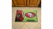 "Fan Mats 18992  NFL - San Francisco 49ers 19"" x 30"" Scraper Mat - Ball Design"