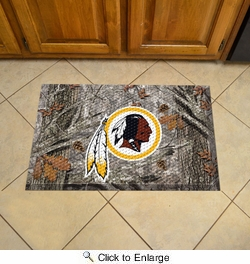 "Fan Mats 19003  NFL - Washington Redskins 19"" x 30"" Scraper Mat - Camo Design"