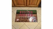 "Fan Mats 19010  MLB - Boston Red Sox 19"" x 30"" Scraper Mat - Ball Design"