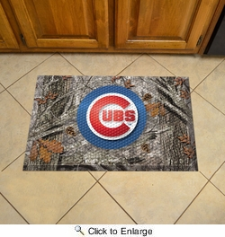 "Fan Mats 19013  MLB - Chicago Cubs 19"" x 30"" Scraper Mat - Camo Design"