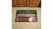 "Fan Mats 19014  MLB - Chicago White Sox 19"" x 30"" Scraper Mat - Ball Design"