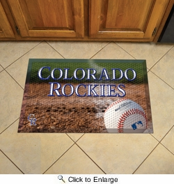 "Fan Mats 19020  MLB - Colorado Rockies 19"" x 30"" Scraper Mat - Ball Design"