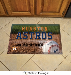 "Fan Mats 19024  MLB - Houston Astros 19"" x 30"" Scraper Mat - Ball Design"