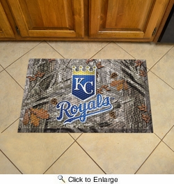 "Fan Mats 19027  MLB - Kansas City Royals 19"" x 30"" Scraper Mat - Camo Design"