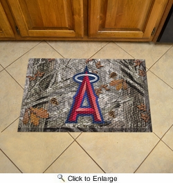 "Fan Mats 19029  MLB - Los Angeles Angels 19"" x 30"" Scraper Mat - Camo Design"