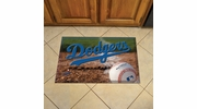 "Fan Mats 19030  MLB - Los Angeles Dodgers 19"" x 30"" Scraper Mat - Ball Design"