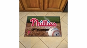 "Fan Mats 19044  MLB - Philadelphia Phillies 19"" x 30"" Scraper Mat - Ball Design"