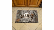 "Fan Mats 19051  MLB - San Francisco Giants 19"" x 30"" Scraper Mat - Camo Design"