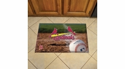 "Fan Mats 19054  MLB - St Louis Cardinals 19"" x 30"" Scraper Mat - Ball Design"