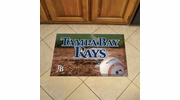 "Fan Mats 19056  MLB - Tampa Bay Devil Rays 19"" x 30"" Scraper Mat - Ball Design"