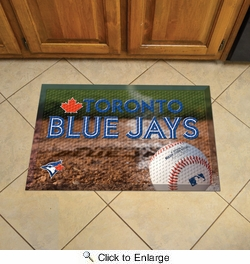 "Fan Mats 19060  MLB - Toronto Blue Jays 19"" x 30"" Scraper Mat - Ball Design"