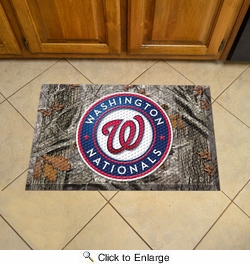 "Fan Mats 19063  MLB - Washington Nationals 19"" x 30"" Scraper Mat - Camo Design"