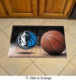 "Fan Mats 19074  NBA - Dallas Mavericks 19"" x 30"" Scraper Mat - Ball Design"