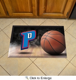 "Fan Mats 19078  NBA - Detroit Pistons 19"" x 30"" Scraper Mat - Ball Design"