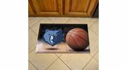 "Fan Mats 19090  NBA - Memphis Grizzlies 19"" x 30"" Scraper Mat - Ball Design"