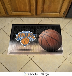 "Fan Mats 19102  NBA - New York Knicks 19"" x 30"" Scraper Mat - Ball Design"