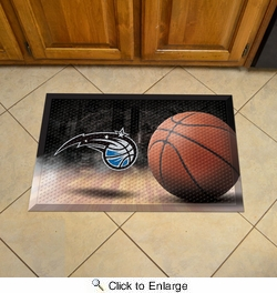 "Fan Mats 19106  NBA - Orlando Magic 19"" x 30"" Scraper Mat - Ball Design"