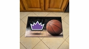 "Fan Mats 19114  NBA - Sacramento Kings 19"" x 30"" Scraper Mat - Ball Design"