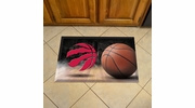 "Fan Mats 19118  NBA - Toronto Raptors 19"" x 30"" Scraper Mat - Ball Design"