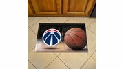"Fan Mats 19122  NBA - Washington Wizards 19"" x 30"" Scraper Mat - Ball Design"