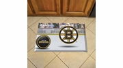 "Fan Mats 19126  NHL - Boston Bruins 19"" x 30"" Scraper Mat - Puck Design"