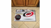 "Fan Mats 19132  NHL - Carolina Hurricanes 19"" x 30"" Scraper Mat - Puck Design"