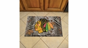"Fan Mats 19135  NHL - Chicago Blackhawks 19"" x 30"" Scraper Mat - Camo Design"