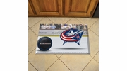 "Fan Mats 19138  NHL - Columbus Blue Jackets 19"" x 30"" Scraper Mat - Puck Design"