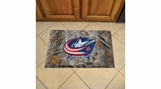 "Fan Mats 19139  NHL - Columbus Blue Jackets 19"" x 30"" Scraper Mat - Camo Design"