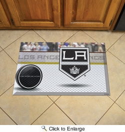 "Fan Mats 19148  NHL - Los Angeles Kings 19"" x 30"" Scraper Mat - Puck Design"